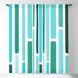 Mid Century Modern Stripes Turquoise Blackout Curtain
