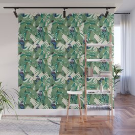 Tuis and Palms Wall Mural