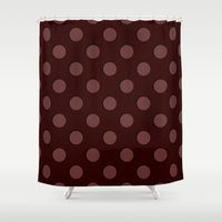 polka Shower Curtains featuring Polka by Taylor Steiner