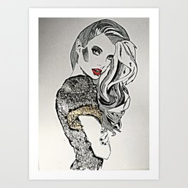 To try and make amends Art Print