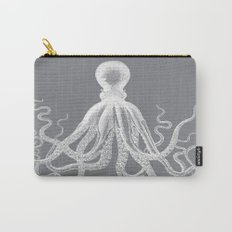Octopus | Grey and White Carry-All Pouch