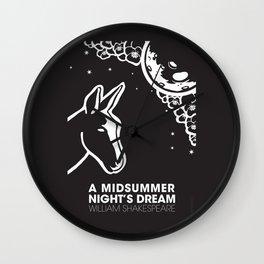 A midsummer night's dream poster Wall Clock