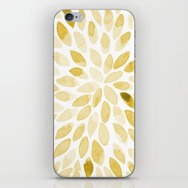 Watercolor brush strokes - yellow iPhone Skin