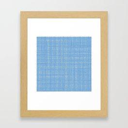 Blue knitting pattern Framed Art Print