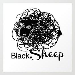Black Sheep w/blk face Art Print