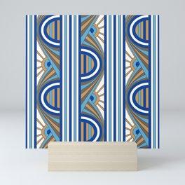 Art Deco Sunrises White Mini Art Print