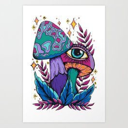 Mushrooms of Boundless Compassion Art Print