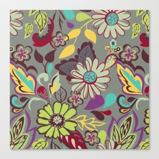 Large Bright Blooms Canvas Print