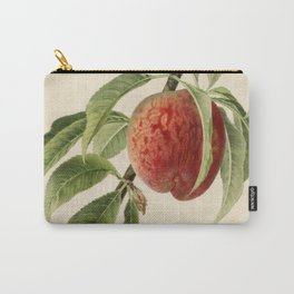Vintage Illustration of a Peach Branch Carry-All Pouch