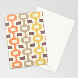 Colorful Mid Century Modern Ogee Pattern 335 Stationery Cards