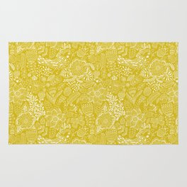 Yellow birds Rug