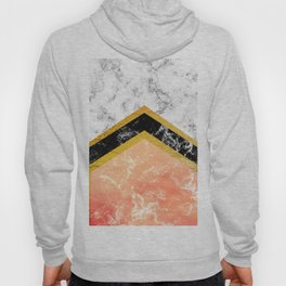 Black and white marble Hoody