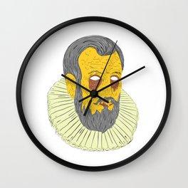 Nobleman Wearing Ruff Collar Grime Art Wall Clock