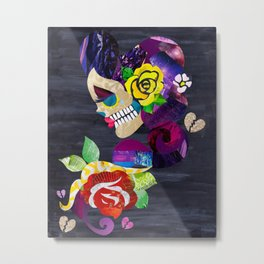 Sad Sugar Skull Metal Print