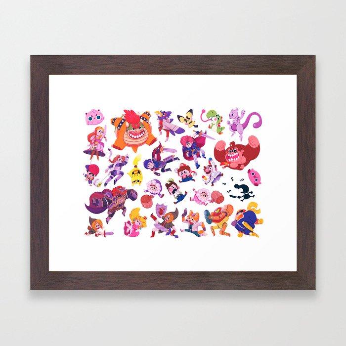 Melee Framed Art Print