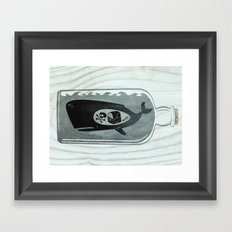 Whale in a Bottle | Treasure and Skull Framed Art Print