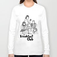 breakfast club Long Sleeve T-shirts featuring The Breakfast Club by Claire Coleman