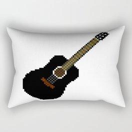 Black acoustic guitar Rectangular Pillow