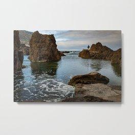 Natural pools on Madeira  Metal Print