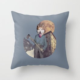 The killer dog Throw Pillow