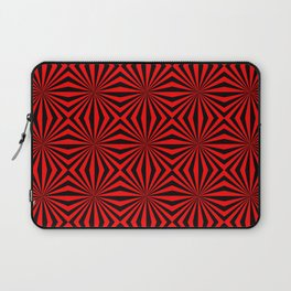 Red Abstract Modern Pattern Art Design Laptop Sleeve