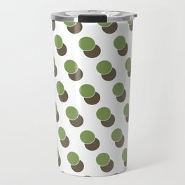 Green Dot Spot Geometric Print Travel Mug