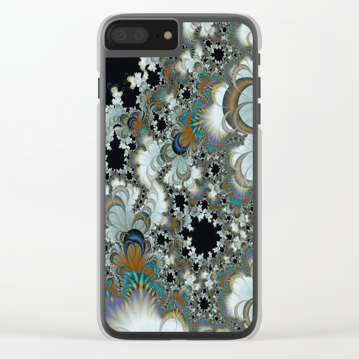 Snow Moons Fractal Clear iPhone Case
