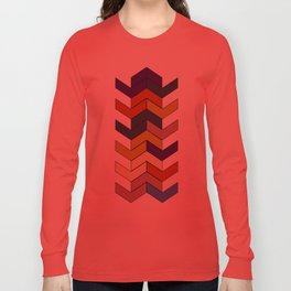 Geometric Chevrons Long Sleeve T-shirt