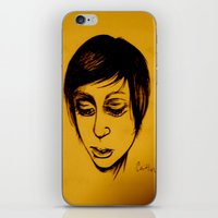 caitlin hackett iPhone & iPod Skins featuring Caitlin by Genevieve Koberstein