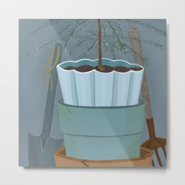 Potting shed Metal Print