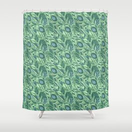 Marine Feather Pattern Ornament Shower Curtain