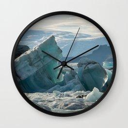 Jokulsarlon 3 Wall Clock