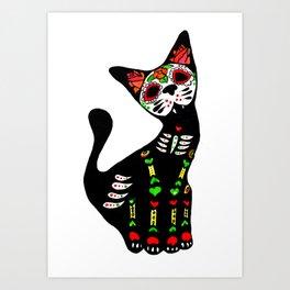 Mexican calvera cat Art Print