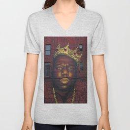 "African American 'King of New York', Bedford–Stuyvesant ""Biggie"" Mural Photograph Unisex V-Neck"