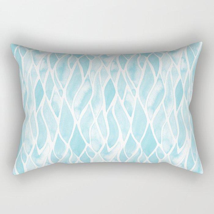 Sand Flow Pattern - Light Blue Rectangular Pillow