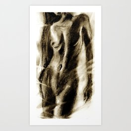 Nude Drawing Art Print