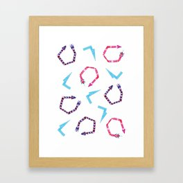 Twisted Arrows & Blue Lightning Bolts Framed Art Print