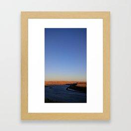 (#97) Sunset Curves Framed Art Print