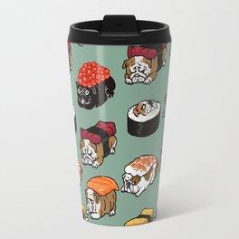 Sushi English Bulldog Travel Mug