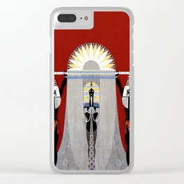 """""""The Egyptian"""" Art Deco Illustration Clear iPhone Case"""
