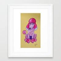 poodle Framed Art Prints featuring poodle by K.ForstnerArt