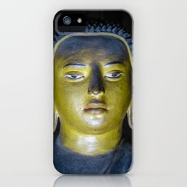 Buddha statue inside Maha Raja Viharaya or the Temple of the Great King (Cave No.2) iPhone Case