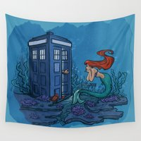 karen hallion Wall Tapestries featuring Part of Every World by Karen Hallion Illustrations