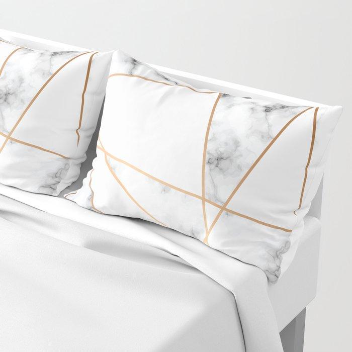 Marble Geometry 054 Pillow Sham