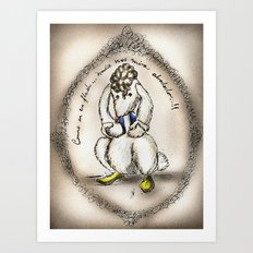 Mes lapins: Como en un flash!!.. Art Print