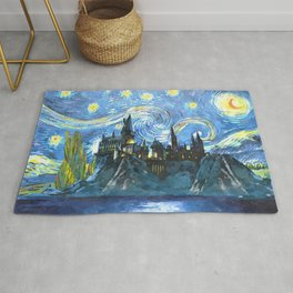 Starry Night in H magic castle Rug