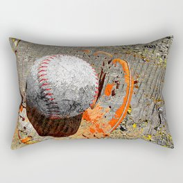 Baseball and baseball glove art Rectangular Pillow