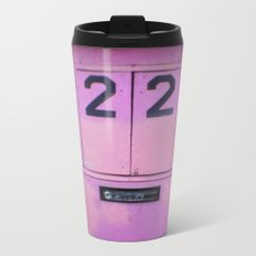 Pink Door Metal Travel Mug
