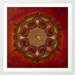 Mandala Flames Art Print