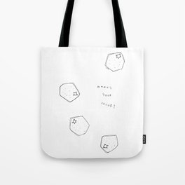 Tell Me - fruit illustration inspirational quote typography Tote Bag